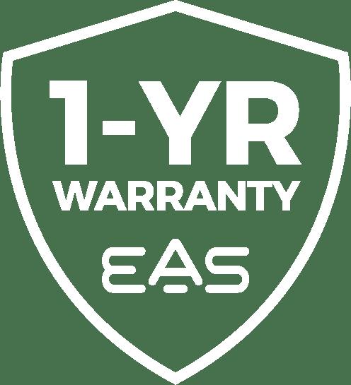 One Year Warranty EAS Logo, White, Seal, Badge