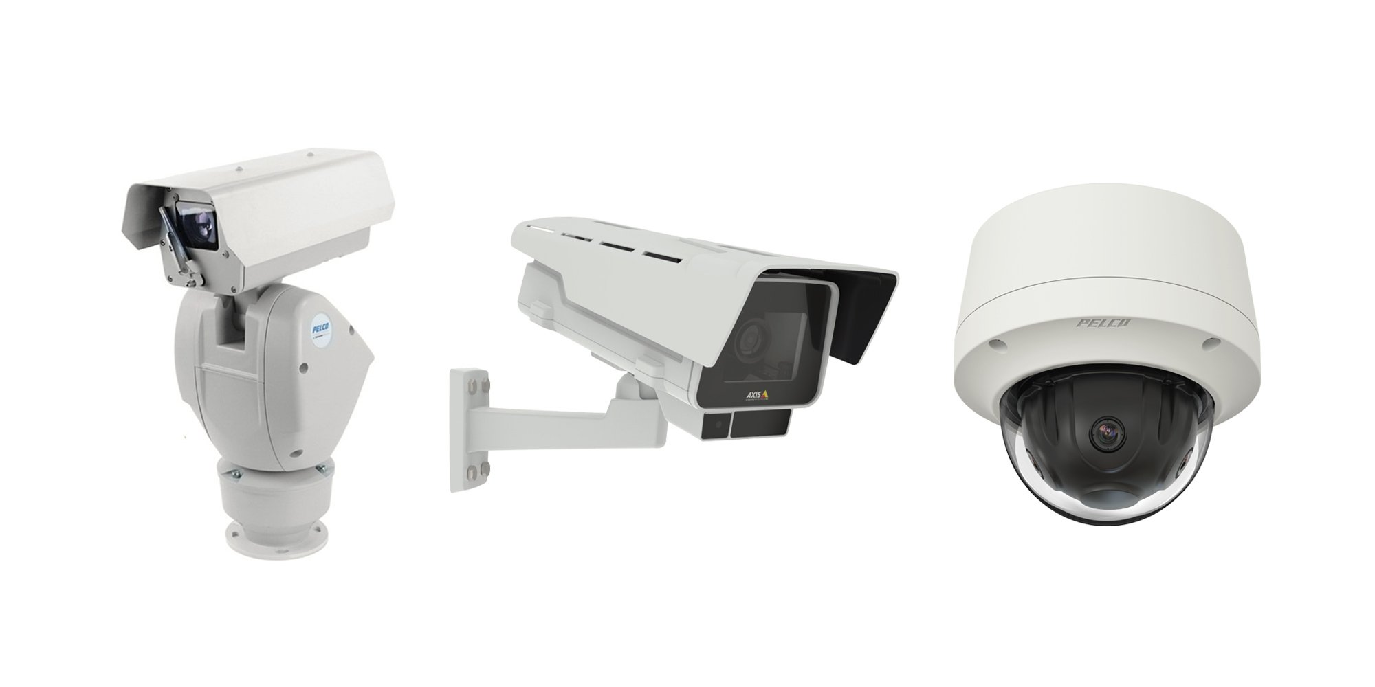 PTZ, fixed and panoramic cameras